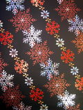 Paper with snowflakes Royalty Free Stock Image