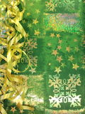 Paper with snowflakes Stock Photos