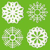 Paper snowflakes Stock Images