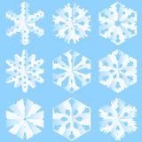 Paper snowflakes Stock Photos