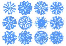 Paper Snowflakes Royalty Free Stock Images