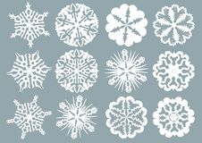 Paper Snowflakes Royalty Free Stock Photo