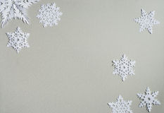 paper snowflakes royaltyfri bild