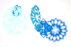 Paper snowflakes. Abstract Christmas background. Royalty Free Stock Photo