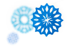 Paper snowflakes. Abstract Christmas background. Royalty Free Stock Photography