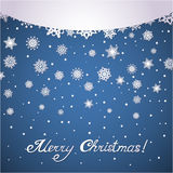 Paper snowflakes christmas card Royalty Free Stock Photos