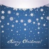 Paper snowflakes christmas card Royalty Free Stock Photos