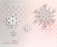 Paper snowflakes Christmas geometric background Stock Photos