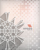 Paper snowflakes Christmas geometric background Stock Images