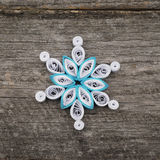 Paper snowflakes made with quilling technique Stock Photos