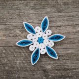 Paper snowflakes made with quilling technique Stock Photography