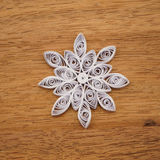 Paper snowflakes made with quilling technique Royalty Free Stock Photos