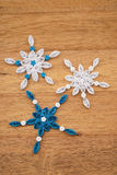 Paper snowflakes made with quilling technique Royalty Free Stock Image