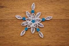 Paper snowflakes made with quilling technique Royalty Free Stock Images