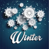 Paper snowflakes. Merry Christmas. This is file of EPS10 format Royalty Free Stock Image