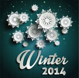 Paper snowflakes. Merry Christmas. This is file of EPS10 format Royalty Free Stock Images