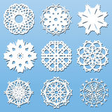 Paper Snowflakes set Royalty Free Stock Photo