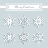 Paper snowflakes set Royalty Free Stock Images