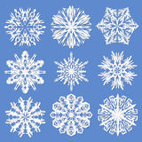 Paper snowflakes. Set Vector illustration Stock Photo