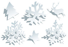 Paper snowflakes, vector Stock Image