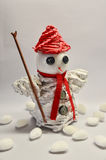 Paper snowman Royalty Free Stock Photo