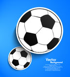 Paper soccer ball tag Stock Images