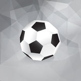 Paper Soccer Ball. Trendy Design Template - in Stock Photos