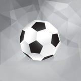 Paper Soccer Ball. Trendy Design Template - in stock illustration