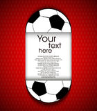 Paper soccerball background Royalty Free Stock Images