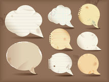 Paper speech bubble Stock Photos