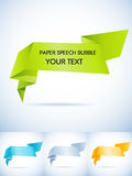 Paper speech bubble Stock Photo