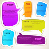 Paper speech bubble. Colorful background vector illustration