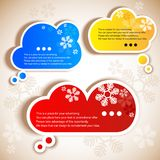 Paper speech bubble. Christmas background royalty free illustration