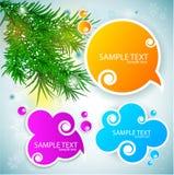 Paper speech bubble. Christmas background stock illustration