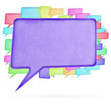 Paper speech bubble Stock Image