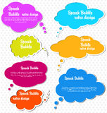 Paper speech bubble Stock Photo