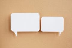 Paper speech bubble Stock Photos