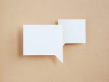 Paper speech bubble Stock Images