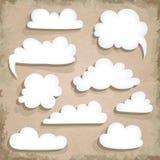 Paper Speech Bubble. Cloud Stock Images