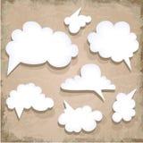 Paper Speech Bubble. Cloud Stock Image