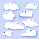 Paper Speech Bubble. Cloud sticker Stock Image