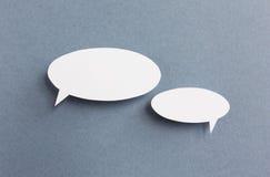 Paper speech bubble Stock Image
