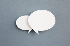 Paper speech bubble Stock Images
