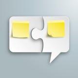 Paper Speech Bubble Puzzle Yellow Sticks Royalty Free Stock Photo