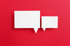 Paper speech bubble Royalty Free Stock Images