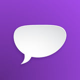 Paper speech bubble for talk crooked at oval shape Stock Image