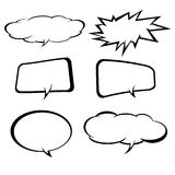 Paper Speech Bubble, Vector Illustration. Royalty Free Stock Photography