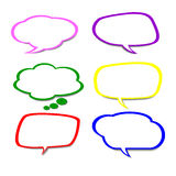 Paper Speech Bubble, Vector Illustration. Stock Image