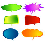 Paper Speech Bubble, Vector Illustration. Stock Photo