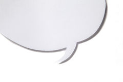 Paper speech bubble on white background Royalty Free Stock Photos